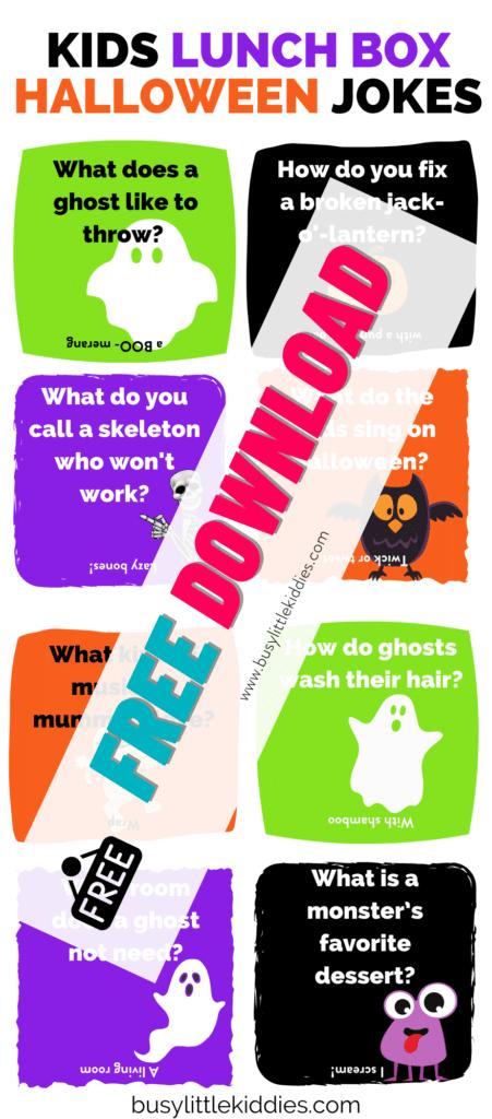 Lunch box jokes Halloween Jokes-- free download