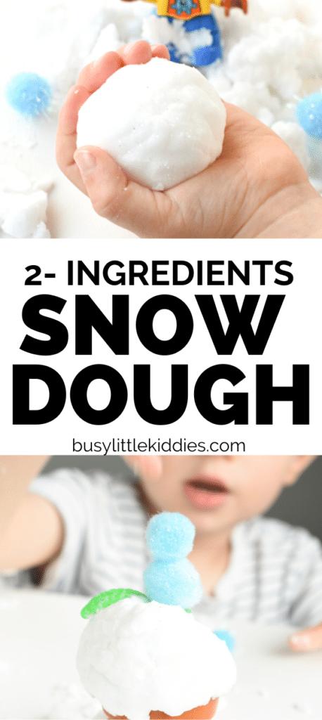 2 ingredients snow dough recipe