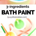 3 Ingredients bath paint