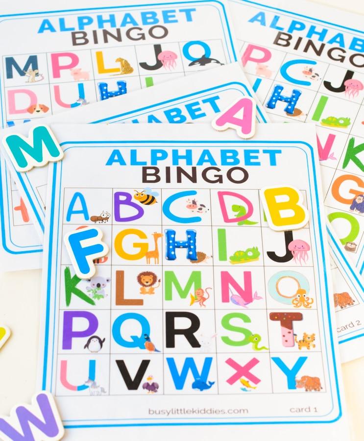 Alphabet bingo free printable
