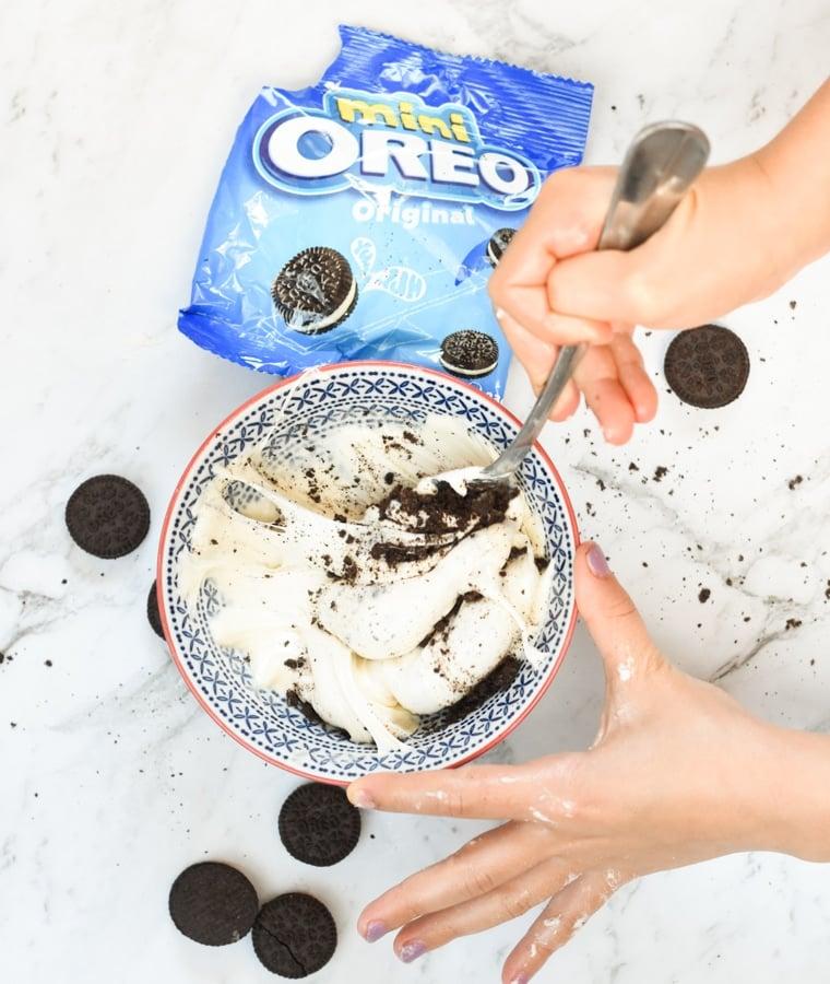 Cookie n cream slime Cookie n cream slime preparationpreparation