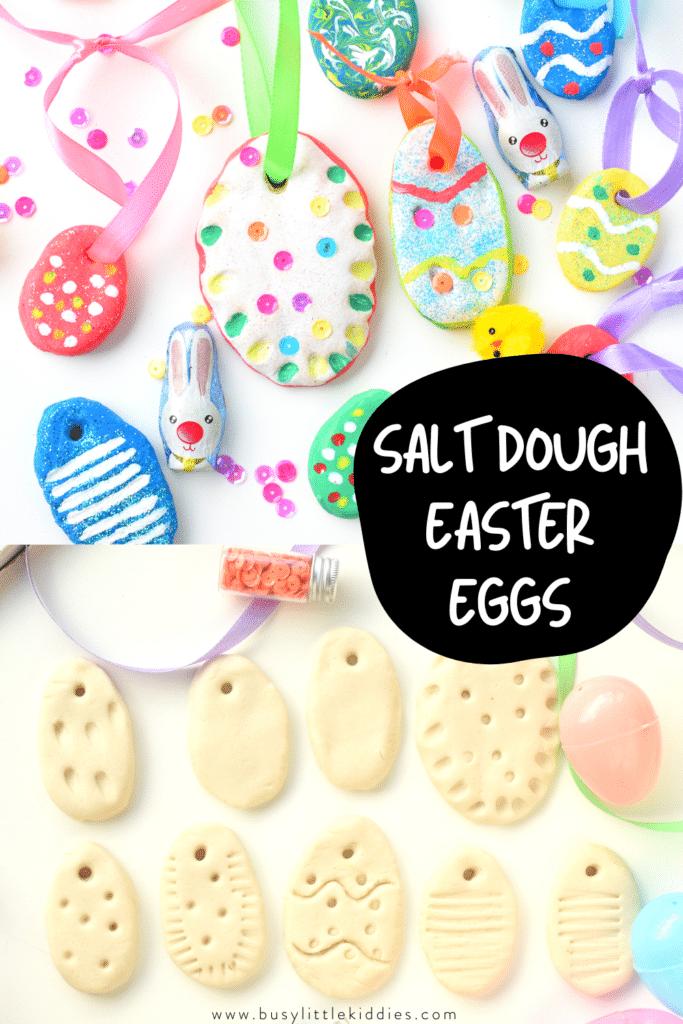 Salt dough Easter ornament