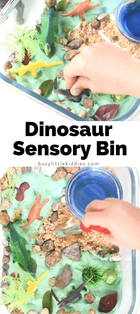 Dinosaur sensory bin Dinosaur sensory bin
