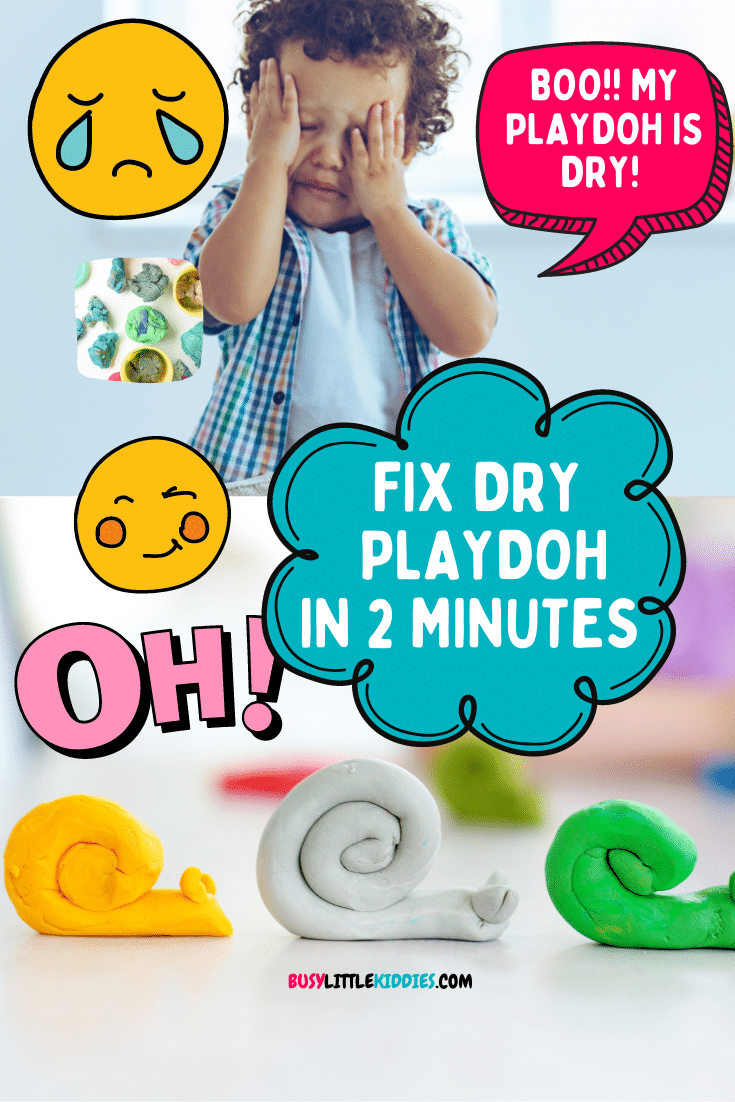 Fix dry playdough Fix dry playdough