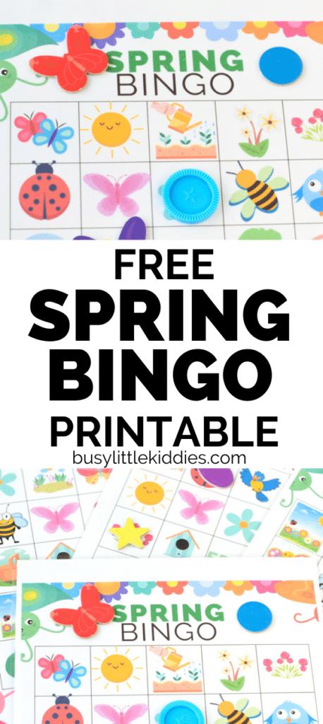 Free Spring Bingo printable