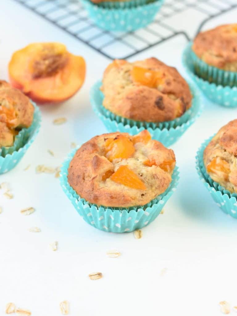 Healthy Banana Peach Muffins for Kids