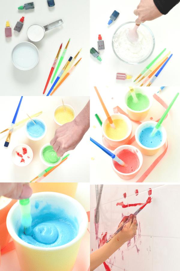 How to make bath paint recipe