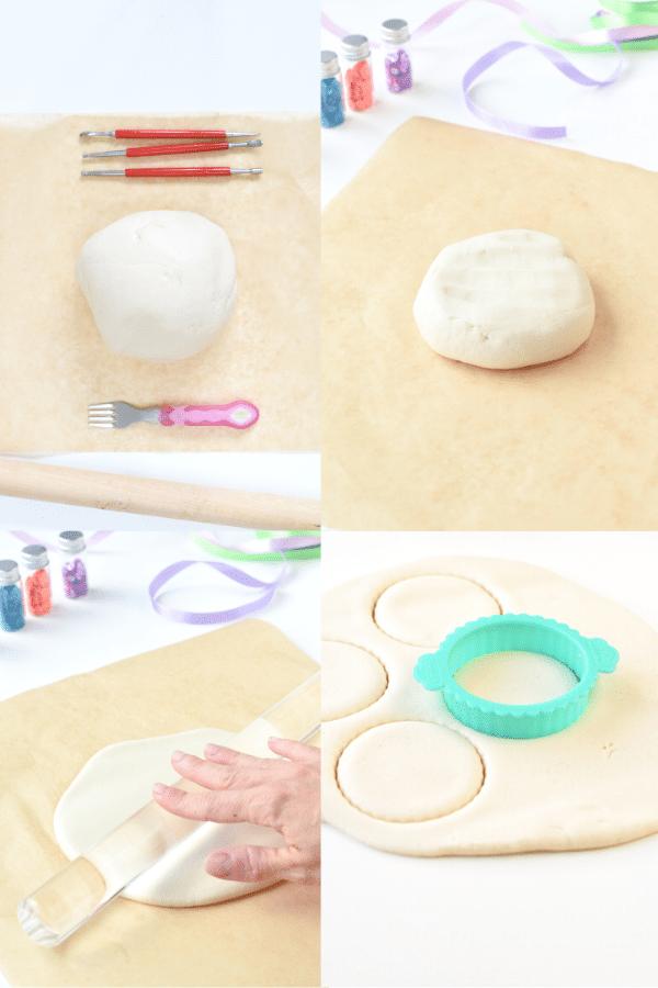 How to roll salt dough