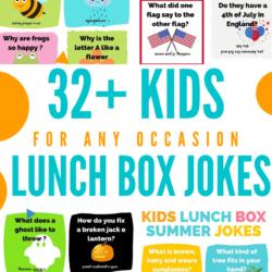 Kids Lunch box jokes FREE printable