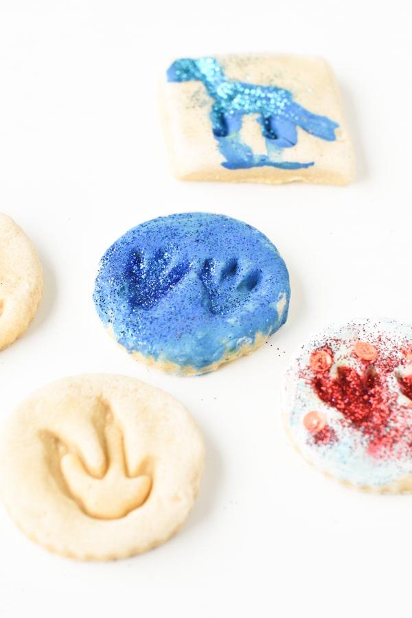 Salt dough dinosaur fossils