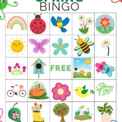 Spring Bingo printable