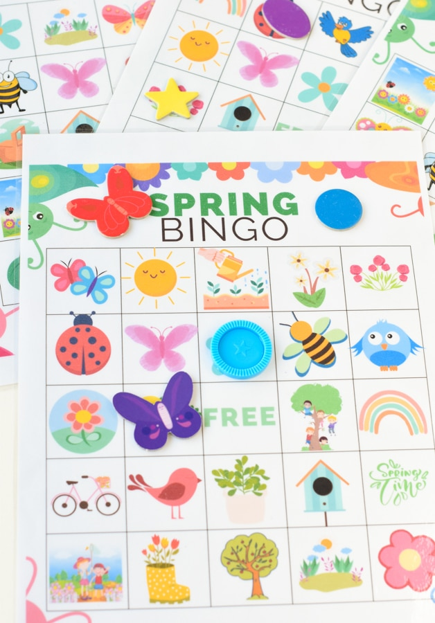 Spring bingo free printable