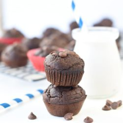 Toddler healthy chocolate muffins