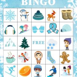 Winter Bingo Free Printable
