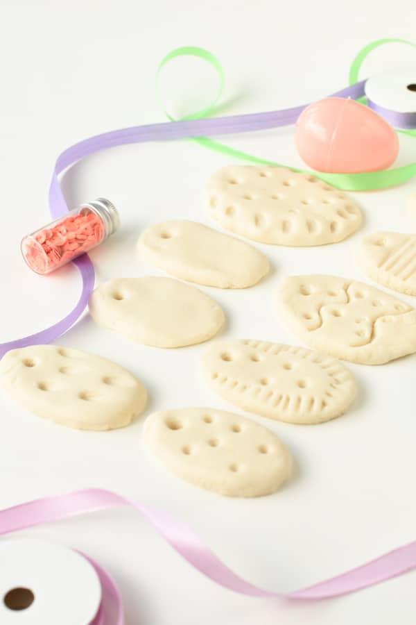 Easter eggs in salt dough